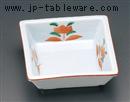 渕赤赤絵花角鉢