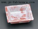 赤楽正角鉢
