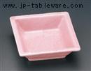 石目ピンク角鉢