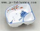 赤絵京山水仕切鉢