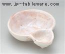 桜志野瓢型仕切鉢