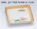 加茂川菊型角皿