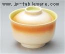 黄彩円菓子碗