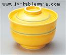 黄釉円菓子碗