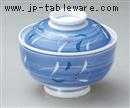 彫唐草円菓子碗