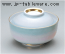 二色吹円菓子碗