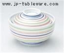 銀彩駒筋円菓子碗
