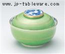 緑釉松竹梅円菓子碗