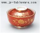 赤巻唐草円菓子碗