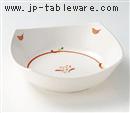 赤絵丸紋7.0鉢