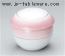 ピンク吹新丸形むし碗(中)