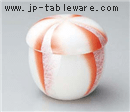 銀彩オレンジ ネジリ小むし碗