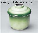 緑釉むし碗