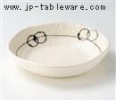 白釉荒彫6.0鉢