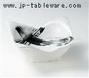 白黒刷毛四方鉢