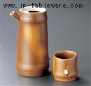 信楽風竹型酒器