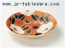 赤濃山茶花5.0浅鉢