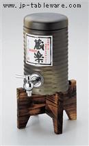 六兵衛筒形黒備前焼酎サーバー