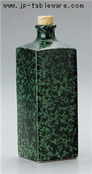 緑釉角型焼酎ボトル