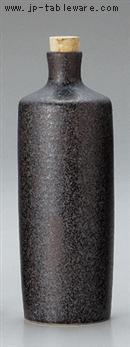 黒釉筒型焼酎ボトル