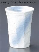 焼酎カップ白青吹