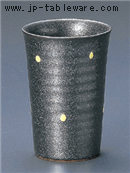 黒ゆず黄水玉フリーカップ