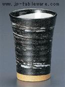 黒水晶白ハケフリーカップ