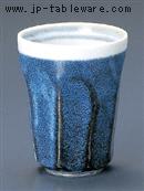 雪嶺石目削りフリーカップ