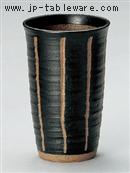 彫トクサ(黒)フリーカップ(大)