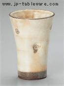 粉引印花フリーカップ