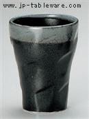 黒水晶焼酎カップ