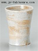 粉引刷毛反型フリーカップ