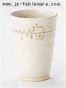 粉引線紋フリーカップ
