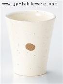 粉引点紋フリーカップ