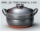 雄山黒釉4.5号深鍋