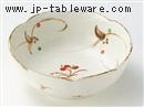 粉引赤絵唐草6.8鉢