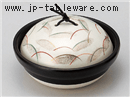 黒釉銀彩むさしの耐熱鍋