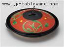朱巻丸紋陶板鍋