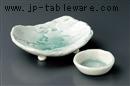 青磁荒磯刺身鉢(手造り)