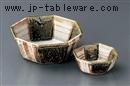 織部十草八角鉢