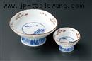 赤絵京山水刺身鉢