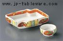 十草赤丸紋刺身鉢(大)