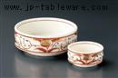 赤絵花紋刺身鉢