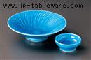 ブルー交趾平鉢