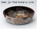 ねずみ志野楓8.0深鉢