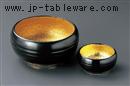 黒釉内金吹刺身鉢