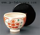 赤ダミ丸紋お茶漬け碗(身)(蓋別売)