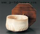 紅粉引抹茶型飯器(蓋別売)