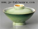 緑彩蓋付大茶