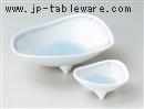 青白磁藍流し刺身鉢